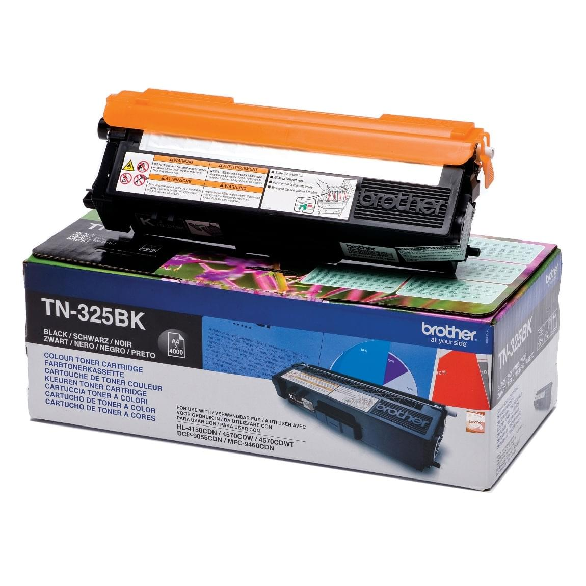 Toner TN325BK Noir 4000p pour imprimante Laser Brother - 0