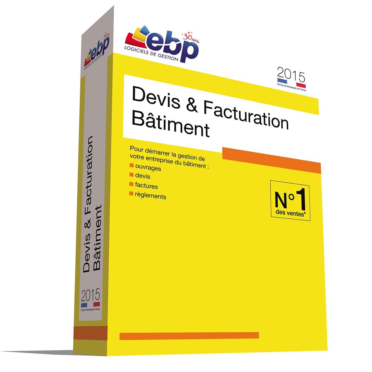 EBP Devis & Facturation Bâtiment 2015 (1088J160FAB) - Achat / Vente Logiciel application sur Cybertek.fr - 0