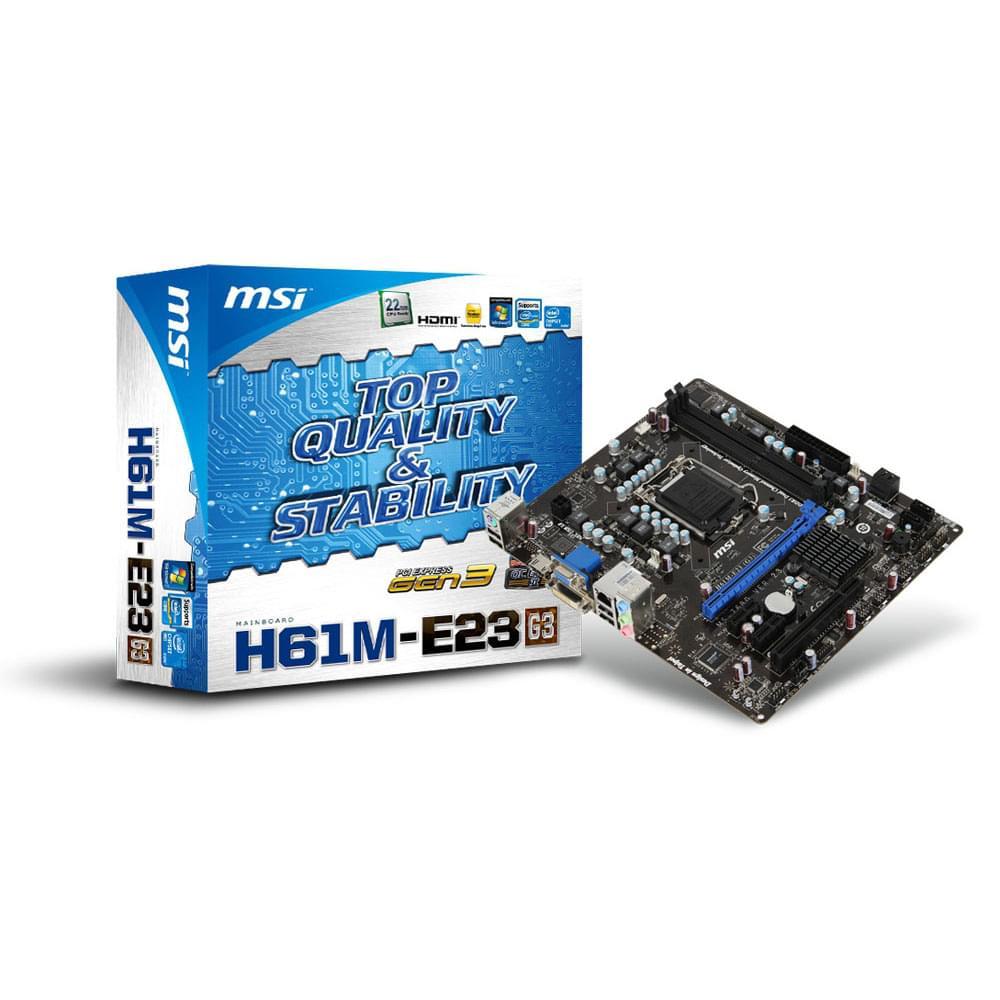 MSI H61M-E23 (G3)   - Carte mère MSI - Cybertek.fr - 0