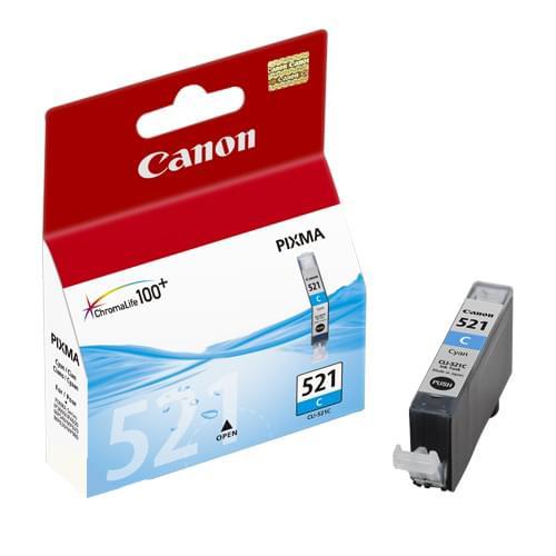 Canon Cartouche CLI-521C Cyan  (2934B001) - Achat / Vente Consommable Imprimante sur Cybertek.fr - 0