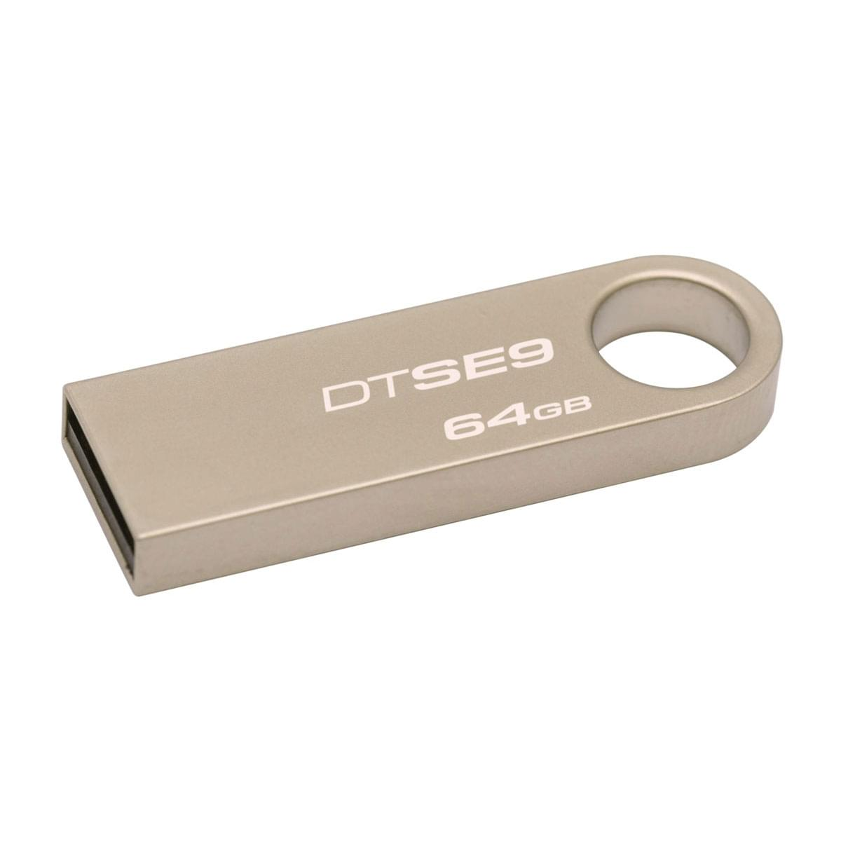 Kingston 64Go USB 2.0 Data SE9 - Clé USB Kingston - Cybertek.fr - 0