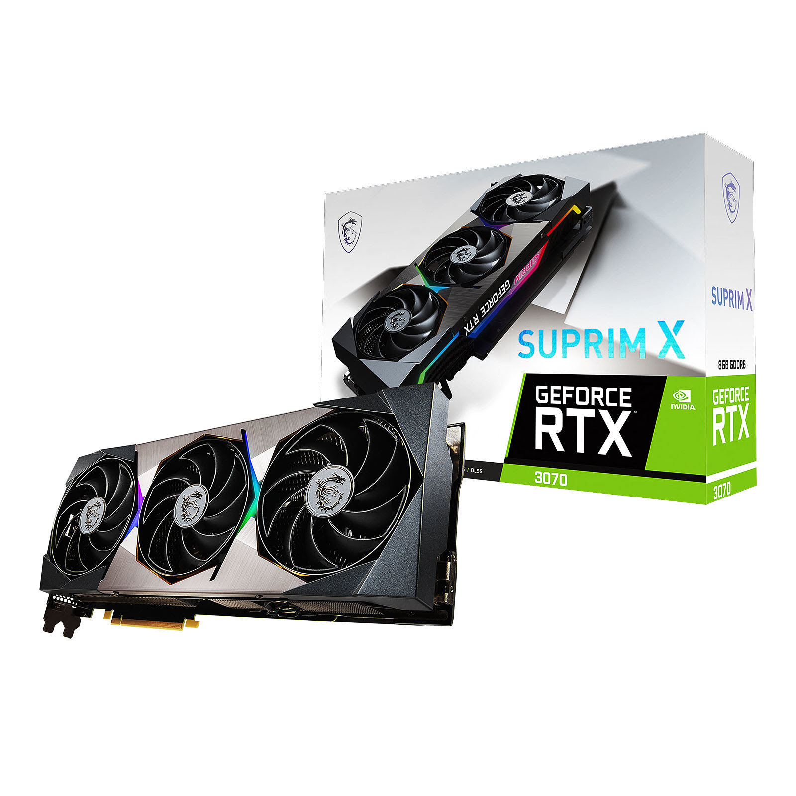 Carte graphique MSI RTX 3070 SUPRIM X 8G - RTX3070/8G/HDMI/DP
