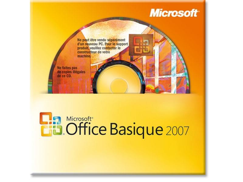 Microsoft Office Basique 2007 COEM - Logiciel suite bureautique - 0