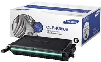 Toner CLP-K660B Noir (5000 p.) pour imprimante Laser Samsung - 0