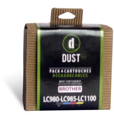 DUST Eco Pack 4 cart.rechargeables LC980-LC985-LC1100 - 0