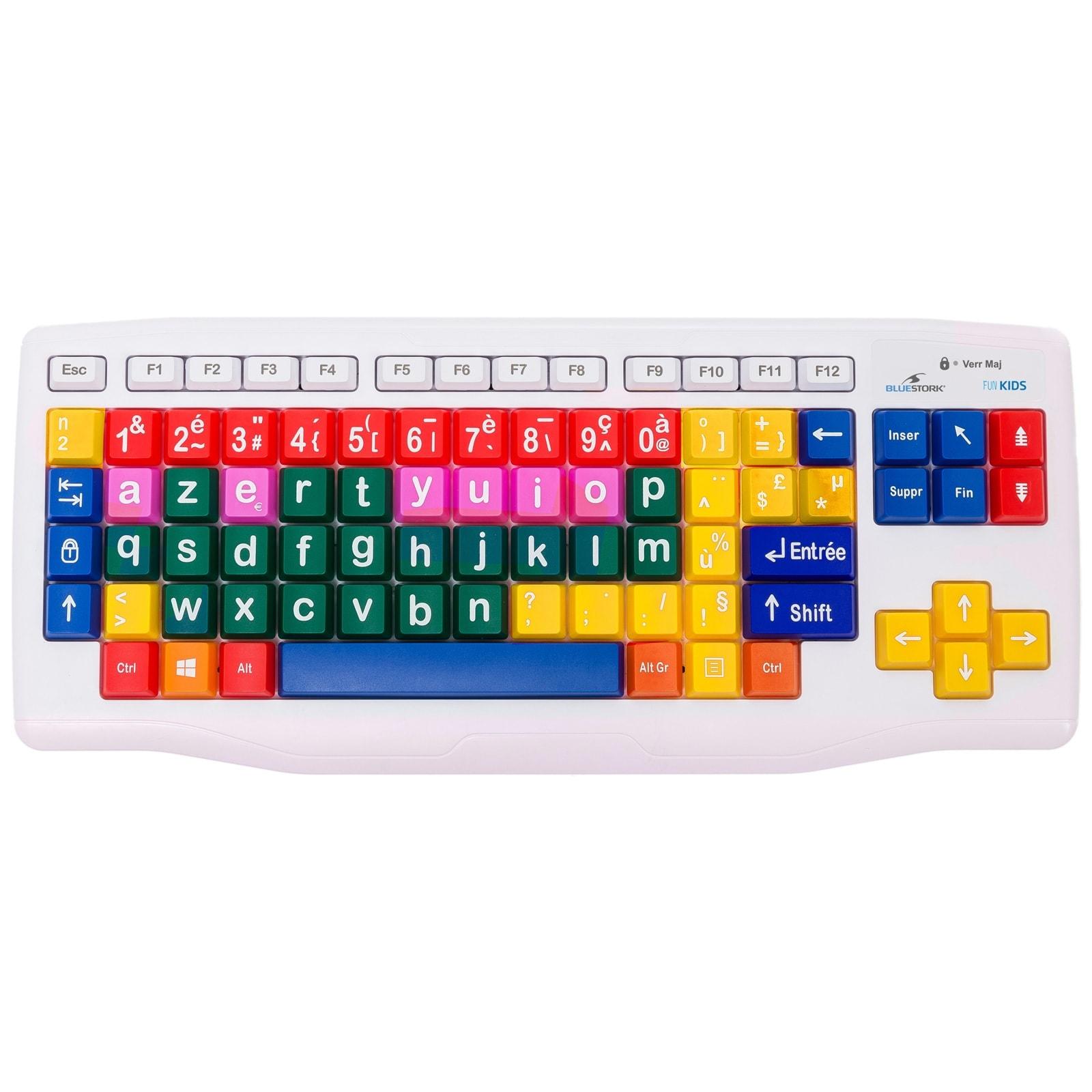 Clavier PC Bluestork KB-Kids - Clavier pour enfants - 0