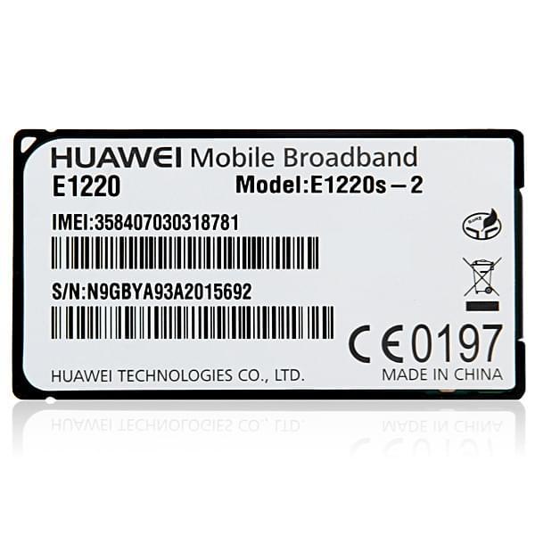Huawei Module 3G pour tablette DUST DU-i100BK132 (E1220S-2 (soldé)) - Achat / Vente Accessoire Tablette sur Cybertek.fr - 0