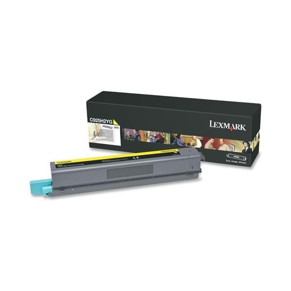 Lexmark Toner Jaune C925H2YG (C925H2YG) - Achat / Vente Consommable imprimante sur Cybertek.fr - 0