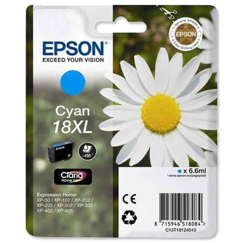 Cartouche T1812 XL Cyan pour imprimante Jet d'encre Epson - 0
