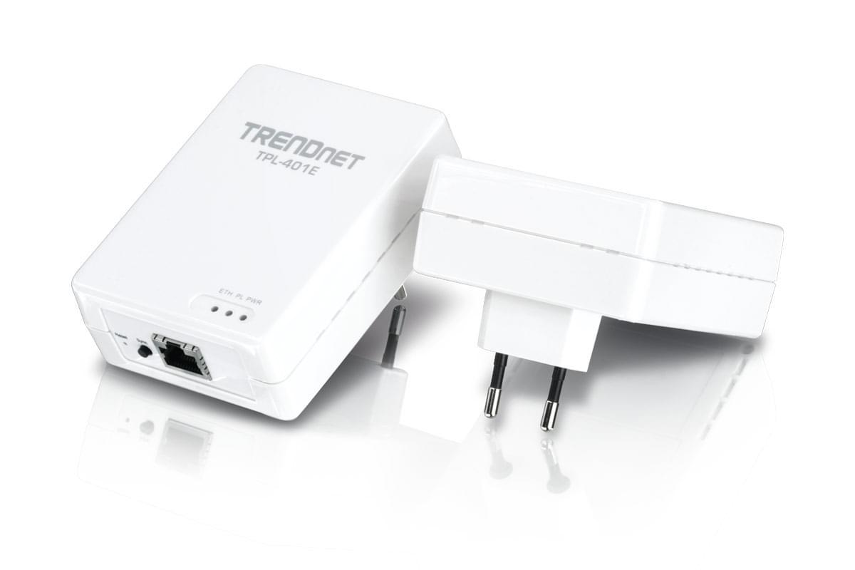 TrendNet PowerLine AV 500 HD (500Mb) Pack de 2 (TRE_TPL401E2K) - Achat / Vente Adaptateur CPL sur Cybertek.fr - 0