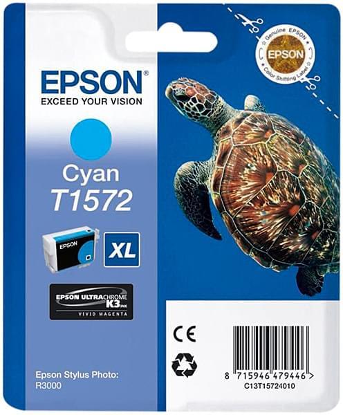 Cartouche T1572 Cyan pour imprimante Jet d'encre Epson - 0