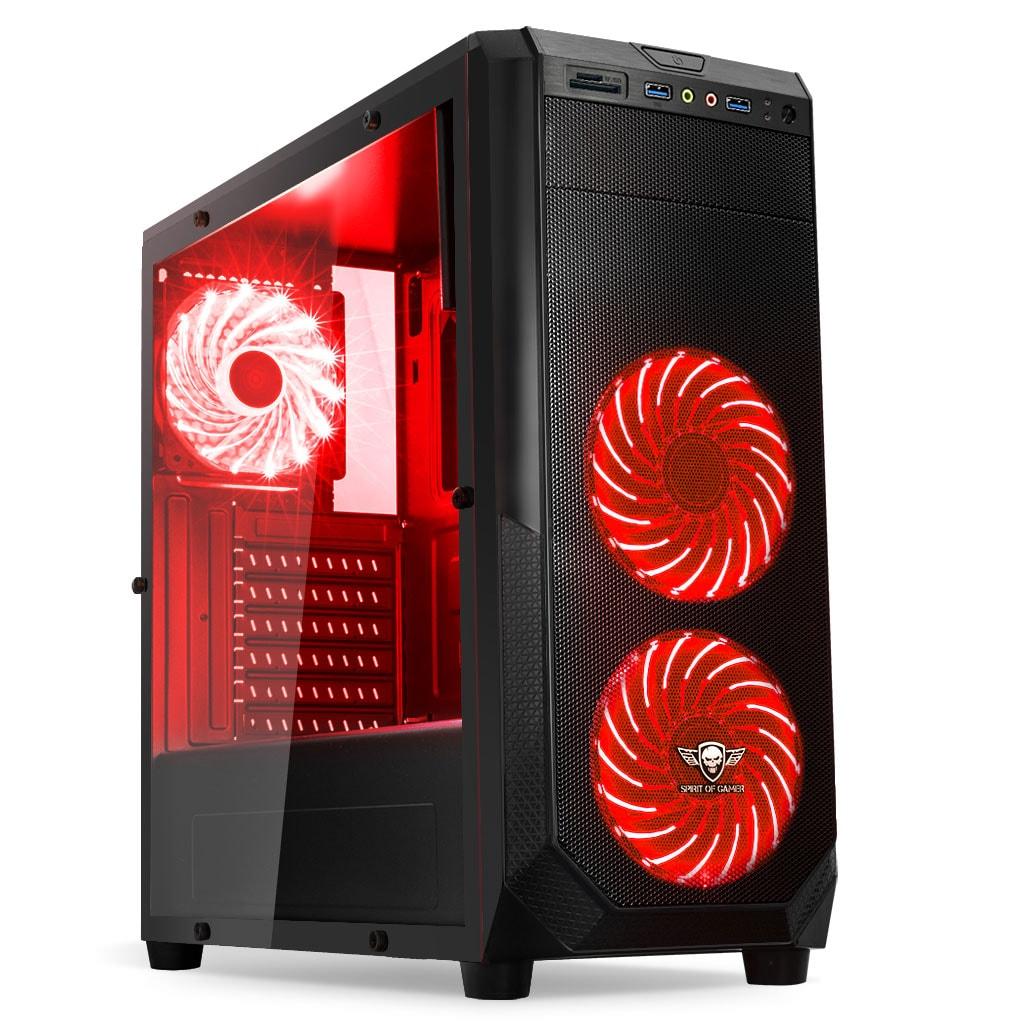 Spirit Of Gamer Boîtier PC S.O.G ROGUE I RED (8618B30RE --) - Achat / Vente Boîtier PC sur Cybertek.fr - 0