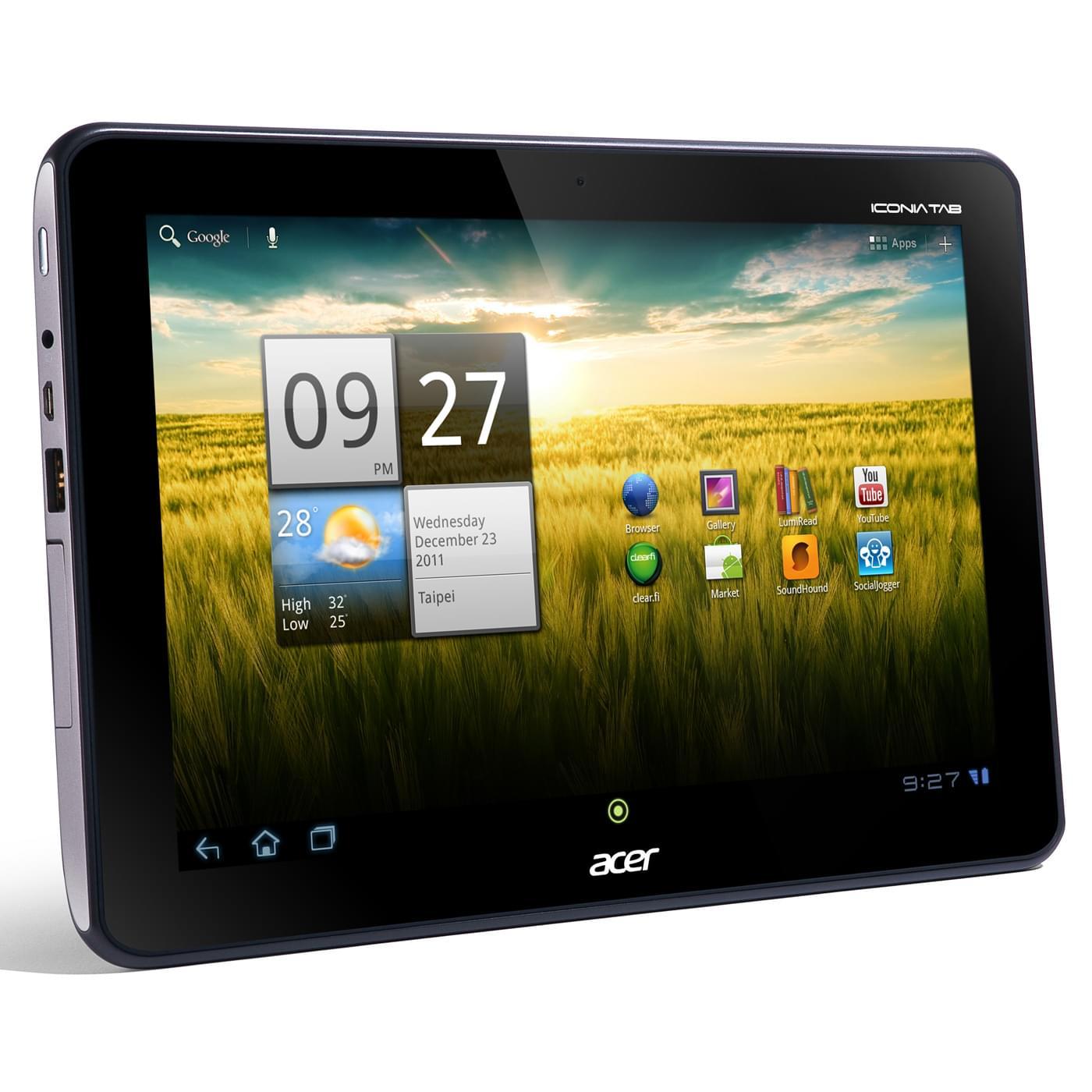 Acer A200 16Go Titane (XE.H8QEN.006) - Achat / Vente Tablette Tactile sur Cybertek.fr - 0