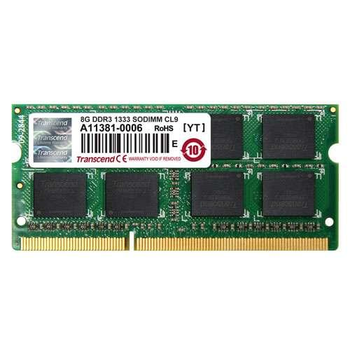 Transcend SO-DIMM 8Go DDR3 1333 CL9 2Rx8 JM1333KSH-8G - Mémoire PC portable - 0