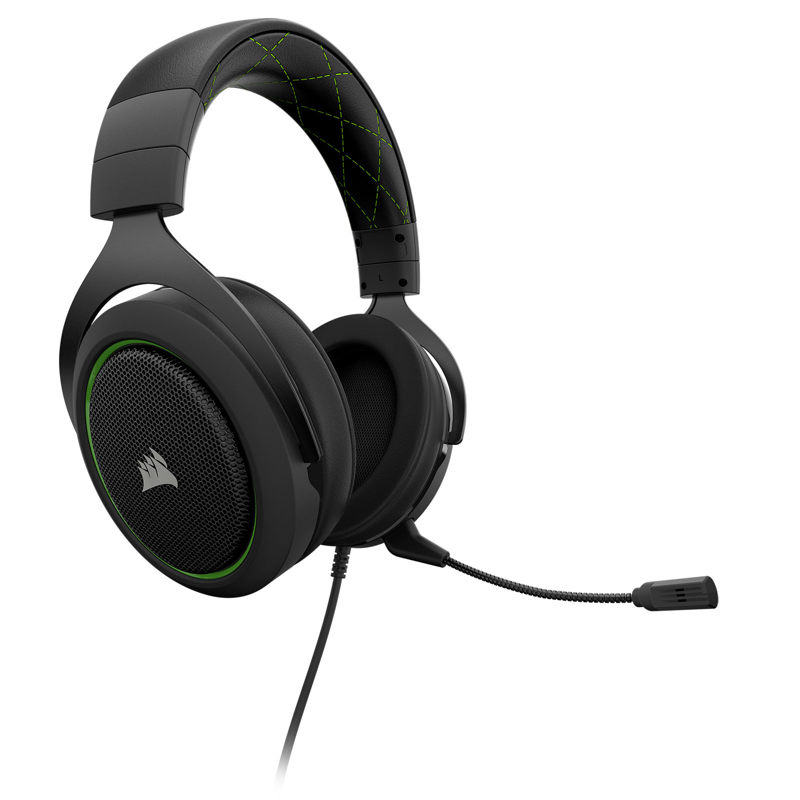 Corsair HS50 Stereo Gaming Headset Green Stereo - Micro-casque - 0
