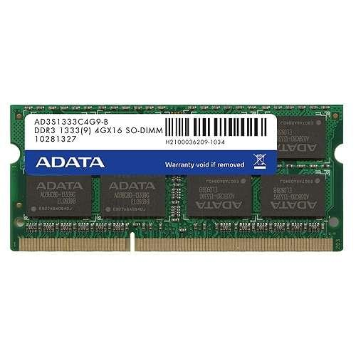 ADATA SO-DIMM 4Go DDR3 FSB1333 AD3S1333C4G9-R - Mémoire PC portable - 0