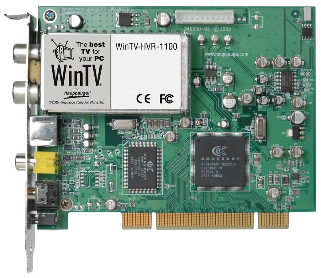 WinTV HVR-1100 PCI (TNT+Analogique+FM) - Tuner TNT Hauppauge - 0
