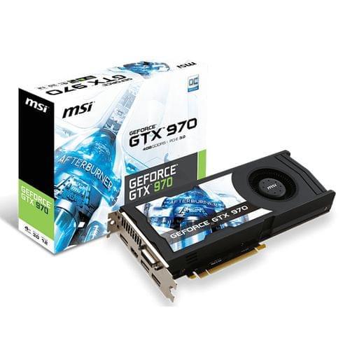 MSI GTX 970 4GD5/OC (GTX 970 4GD5/OC ) - Achat / Vente Carte Graphique sur Cybertek.fr - 0