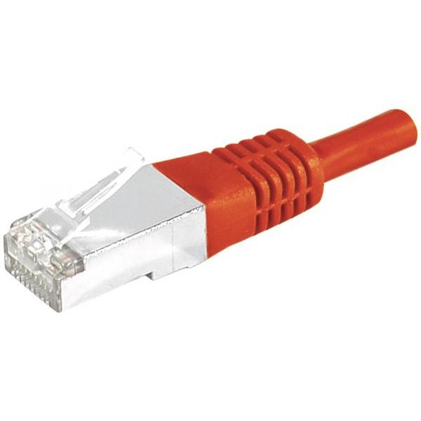 Cordon Cat.6A S/FTP Rouge - 2m  - Connectique réseau - Cybertek.fr - 0