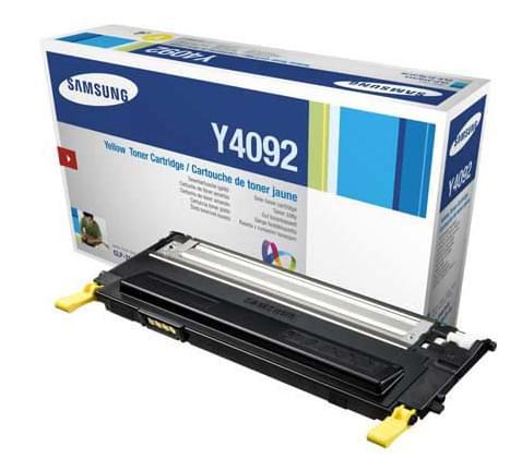 Toner CLT-Y4092S Jaune pour imprimante Laser Samsung - 0