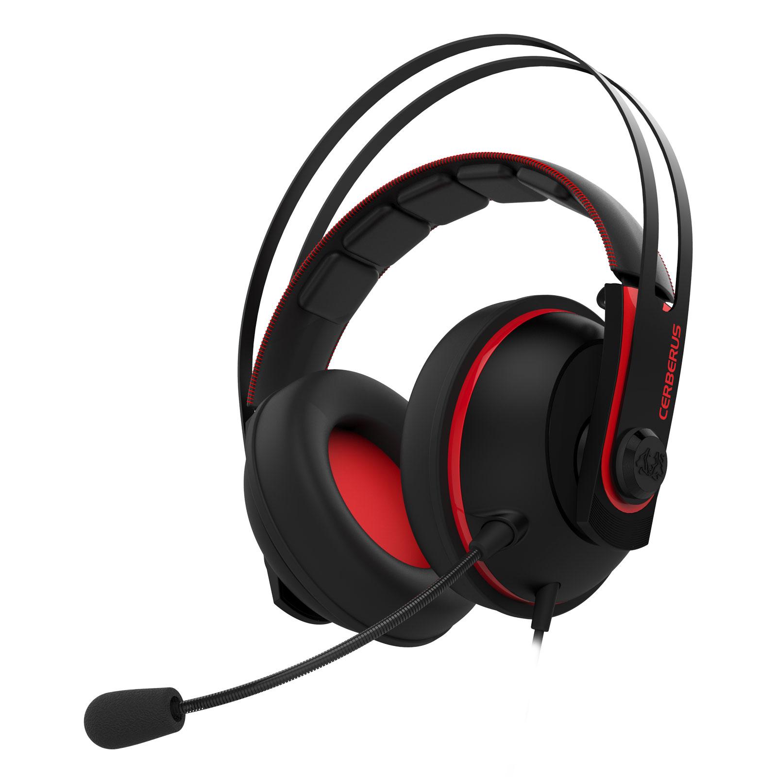 Asus Cerberus V2 Rouge Stereo Noir - Micro-casque - Cybertek.fr - 0