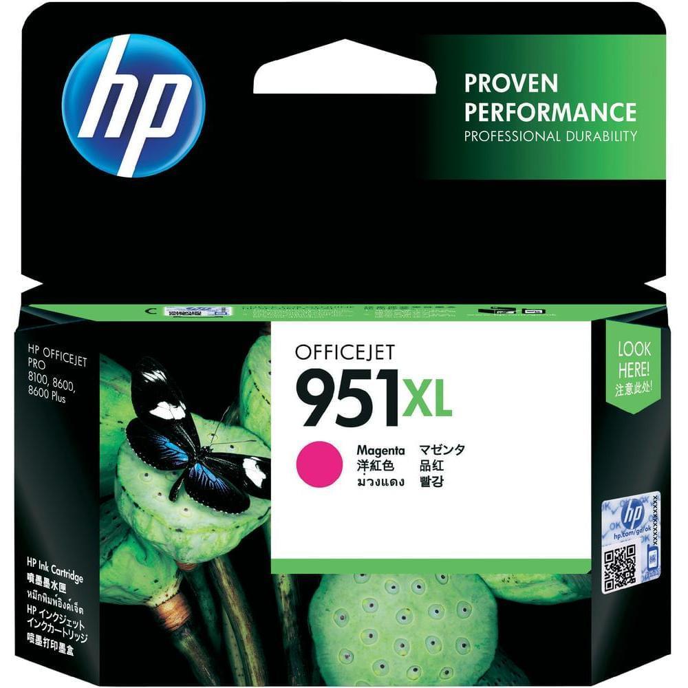 Cartouche Magenta 951XL - CN047AE pour imprimante Jet d'encre HP - 0