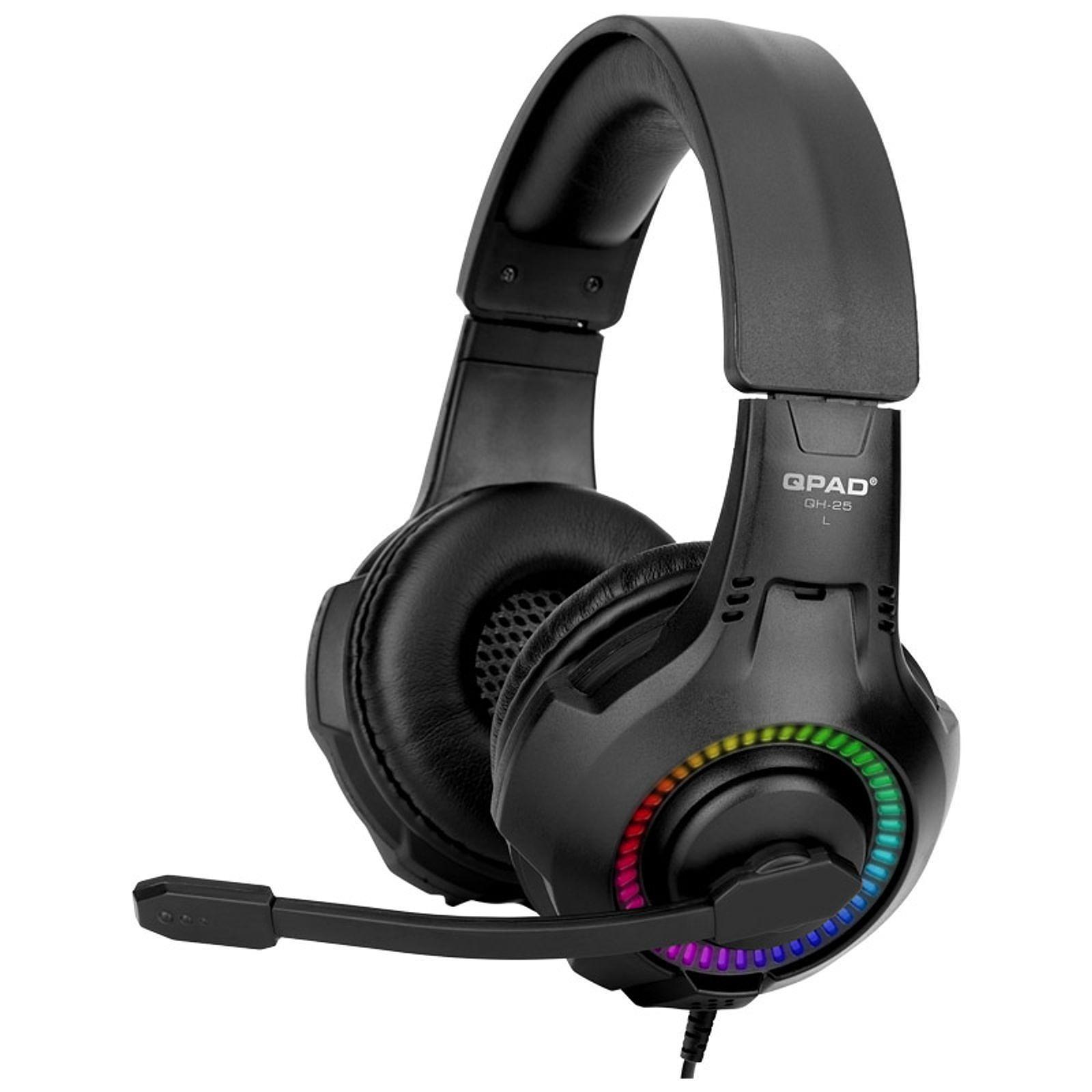 QPAD QH-25 True 7.1 Noir - Micro-casque - Cybertek.fr - 0