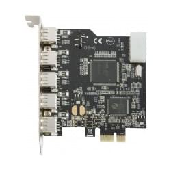 Image produit PCI-E  5 ports USB2 ext. + 1 port int.