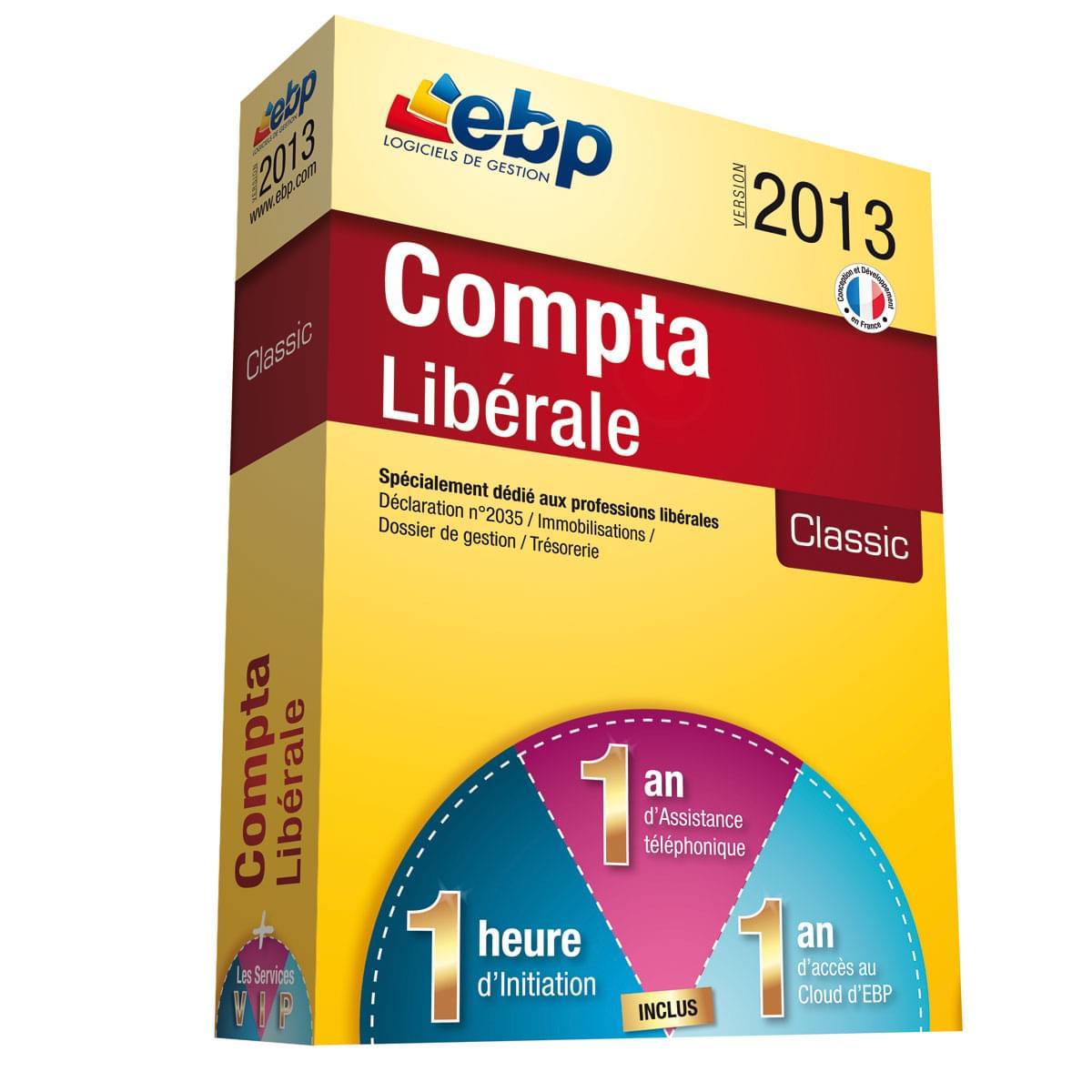 EBP Compta Libérale Classic 2013 + Services VIP (1061J051FAA) - Achat / Vente Logiciel Application sur Cybertek.fr - 0