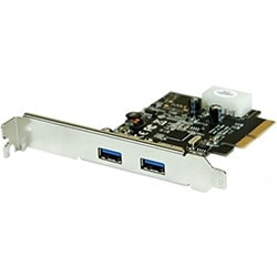 No Name Carte Controleur PCI-E 3.0 - 2 ports USB 3.1 type A Cybertek