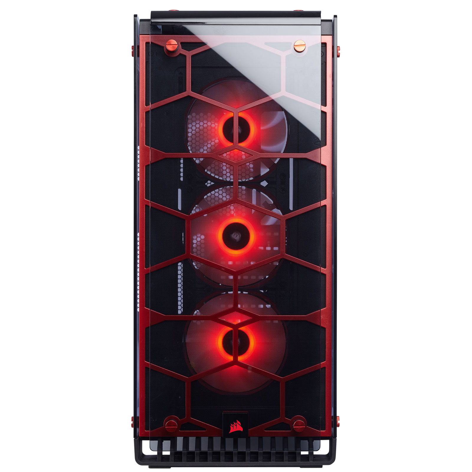 Corsair Crystal 570X RGB Rouge Transparent - Boîtier PC Corsair - 4