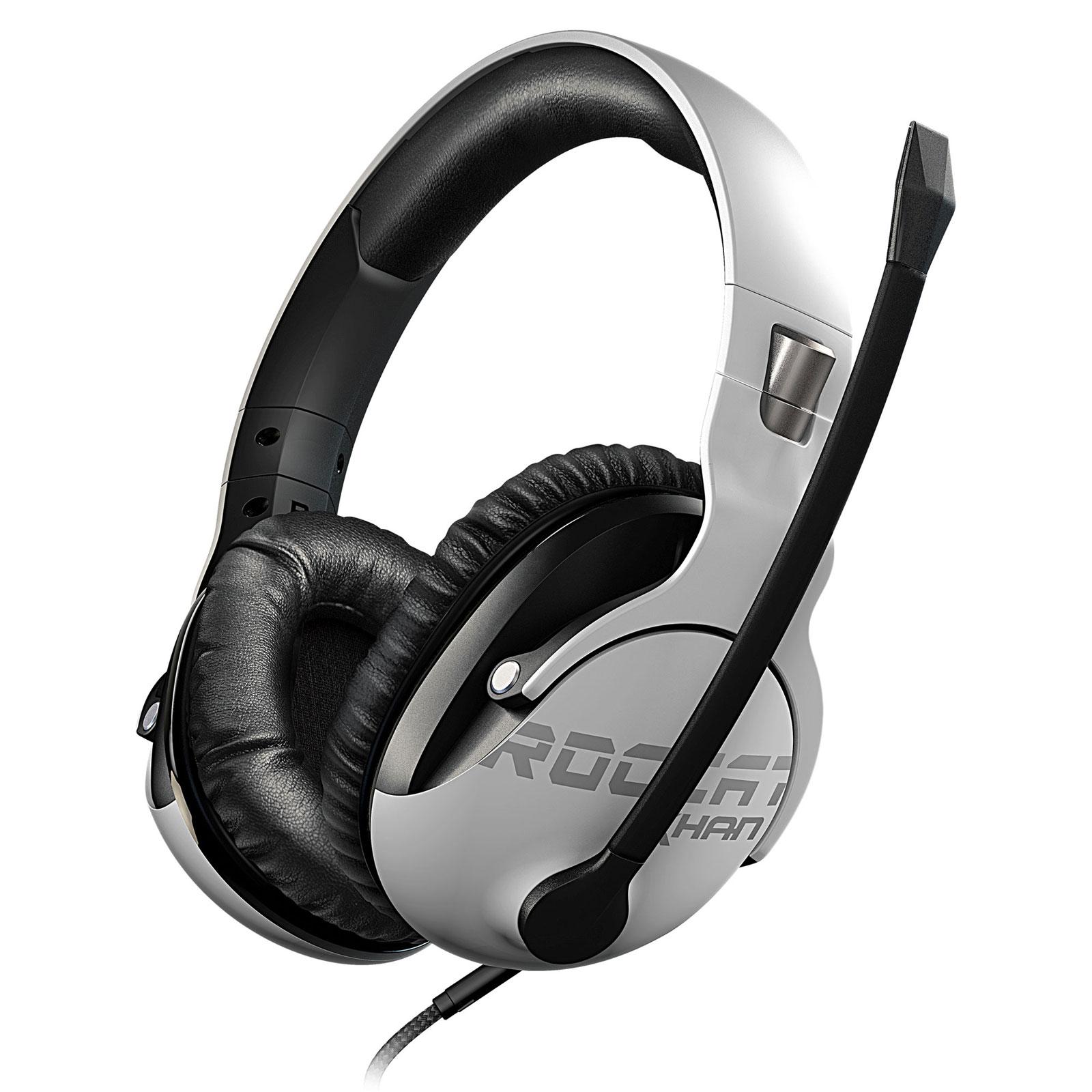 Roccat Khan Pro Blanc Stereo Blanc Micro Casque Cybertekfr