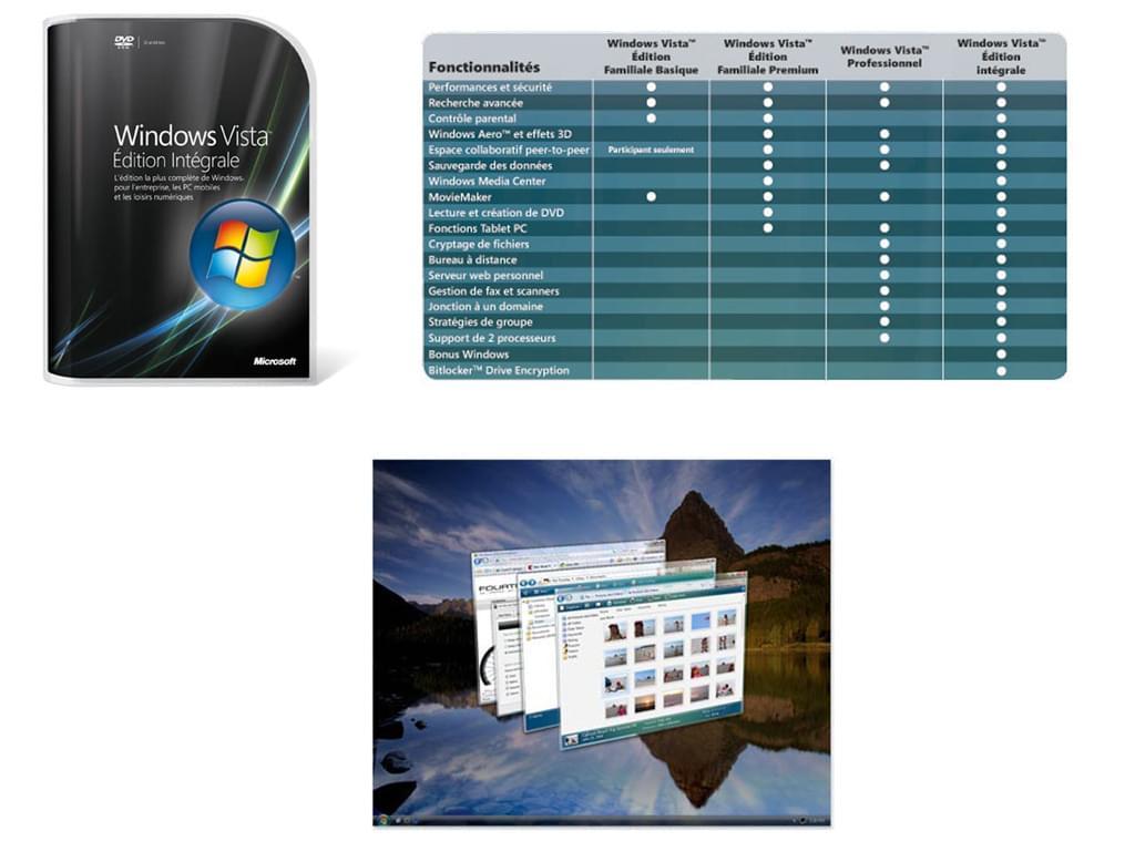 Microsoft Windows Vista Edition Intégrale CYBERTEK (66R-01023) - Achat / Vente Destockage sur Cybertek.fr - 0