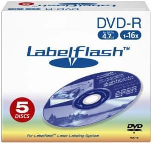 No Name DVD-R Vierge 4.7Go LabelFlash (pack de 5) - 0