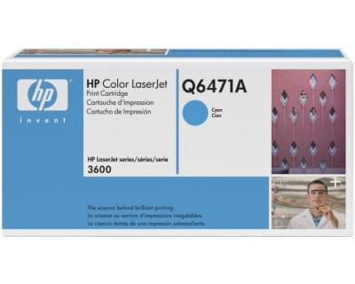 Toner Q6471A Cyan pour imprimante Laser HP - 0