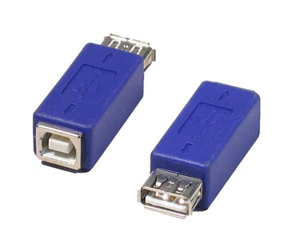 Adaptateur USB A Femelle - USB B Femelle - Connectique PC - 0
