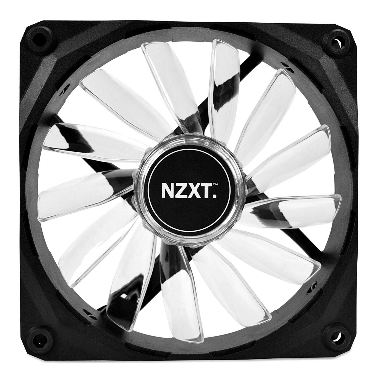 NZXT FZ 120mm White LED - Ventilateur boîtier NZXT - Cybertek.fr - 1