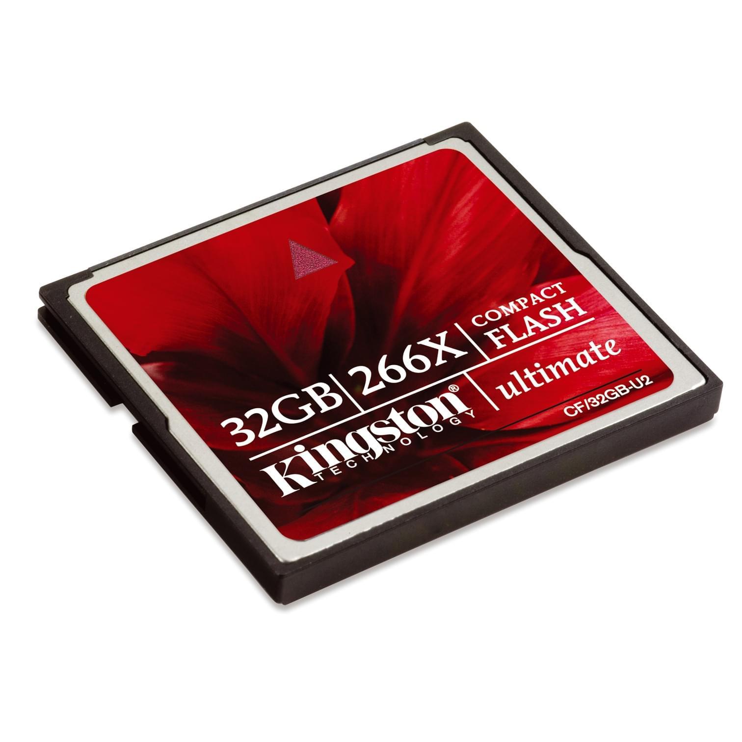 Kingston CompactFlash 32Go Ultimate 266X - Carte mémoire Kingston - 0