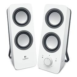 Logitech Enceinte PC Multimedia Speakers Z200 Snow White 2HP Cybertek
