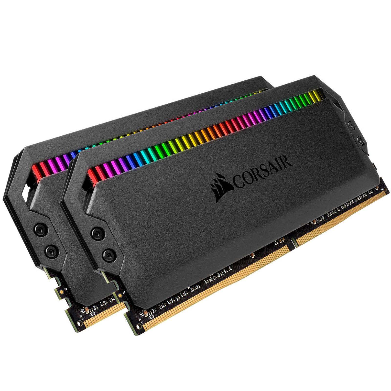 Corsair DOMINATOR PLATINUM RGB 32Go (2x16Go) DDR4 3200MHz C16 32Go DDR4 3200MHz PC25600 - Mémoire PC Corsair sur Cybertek.fr - 1