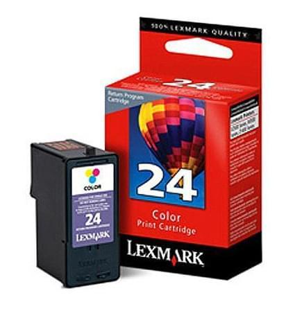 Cartouche couleur N°24 - 018C1524E pour imprimante Jet d'encre Lexmark - 0