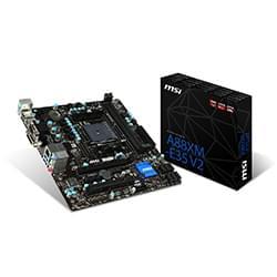 Cybertek Carte mère MSI A88XM-E35 V2 - A88X/SKFM2+/DDR3/PCI-E/mATX