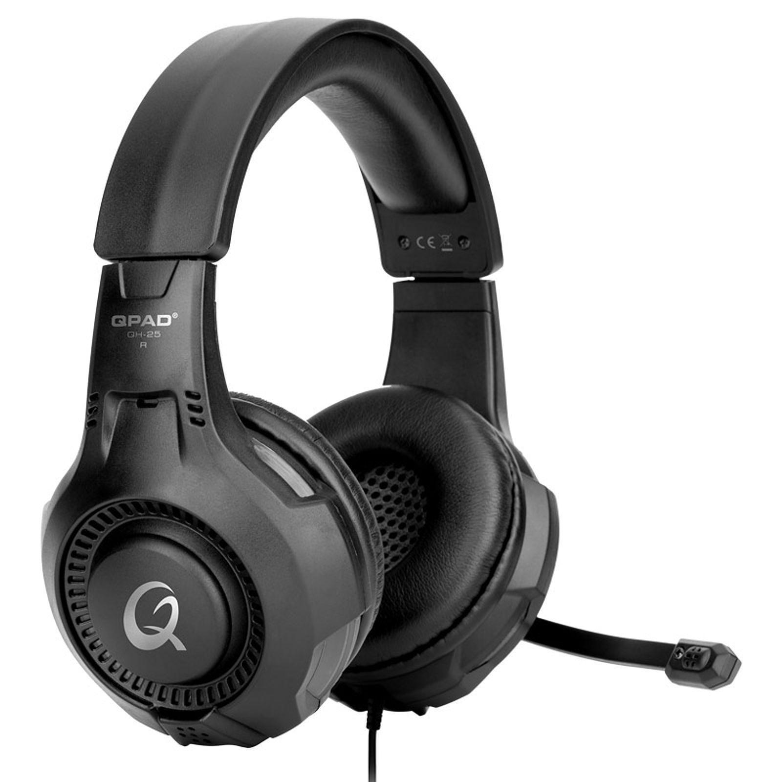 QPAD QH-25 True 7.1 Noir - Micro-casque - Cybertek.fr - 1