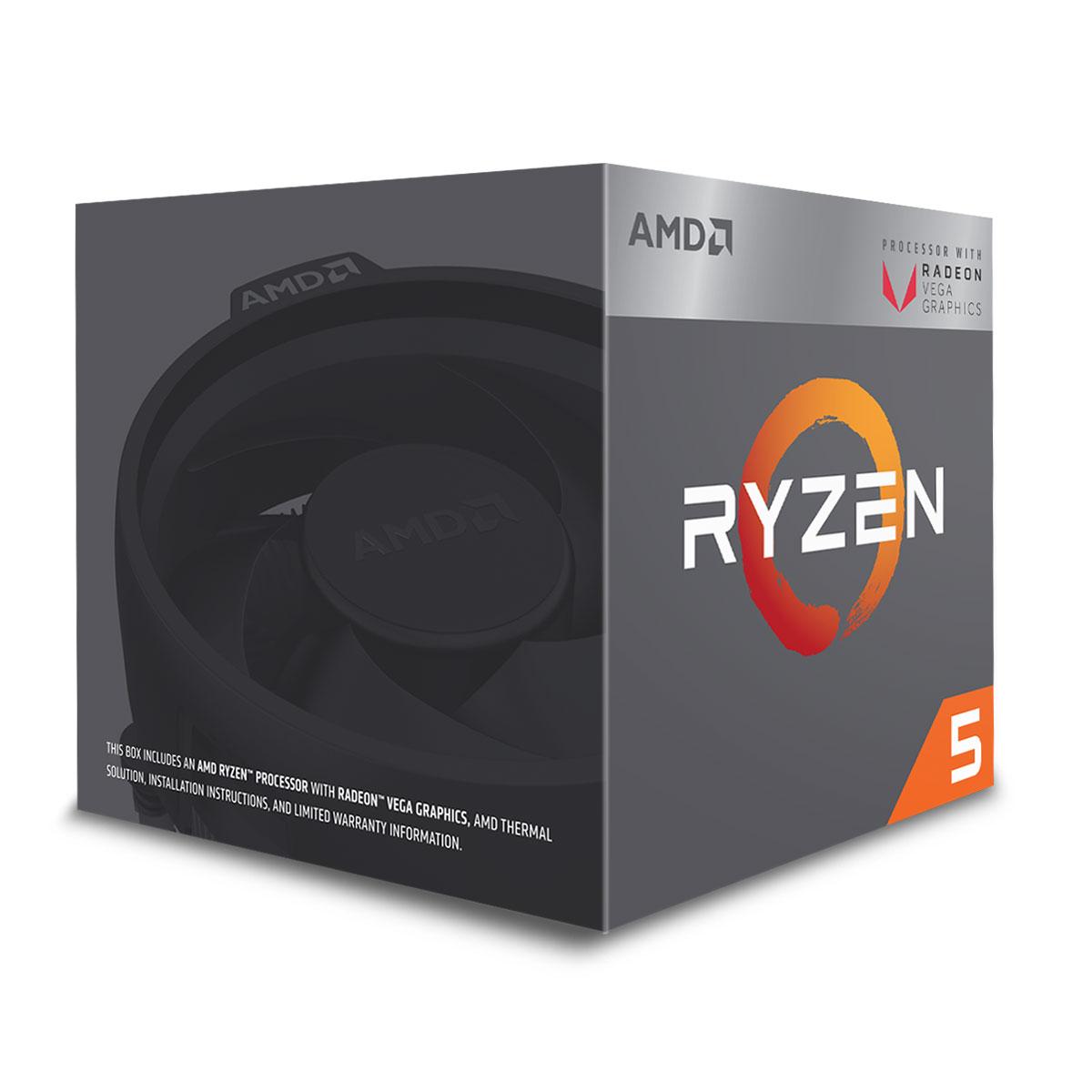 AMD Ryzen 5 2400G - 3.9GHz - Processeur AMD - Cybertek.fr - 0