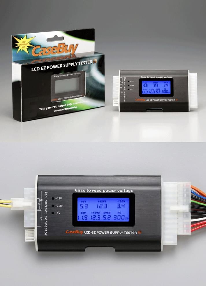 No Name Testeur d'Alimentation avec écran LCD (ZUB-XP-TEST / 801506) - Achat / Vente Alimentation sur Cybertek.fr - 0