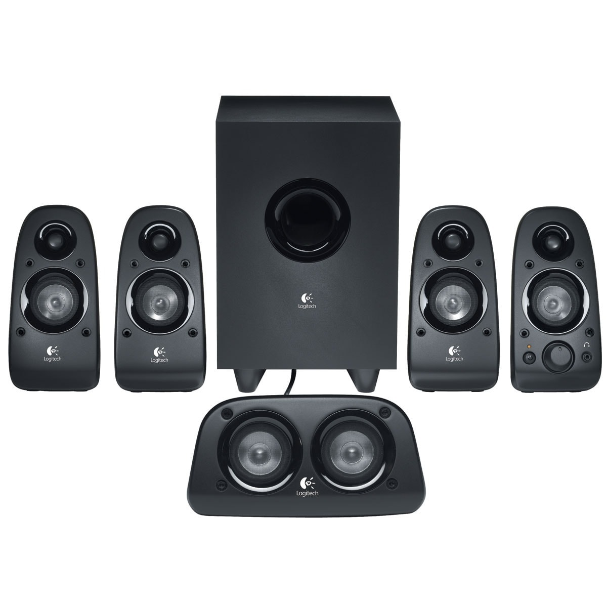logitech 5hp caisson surround sound speaker z506 enceinte pc logitech. Black Bedroom Furniture Sets. Home Design Ideas