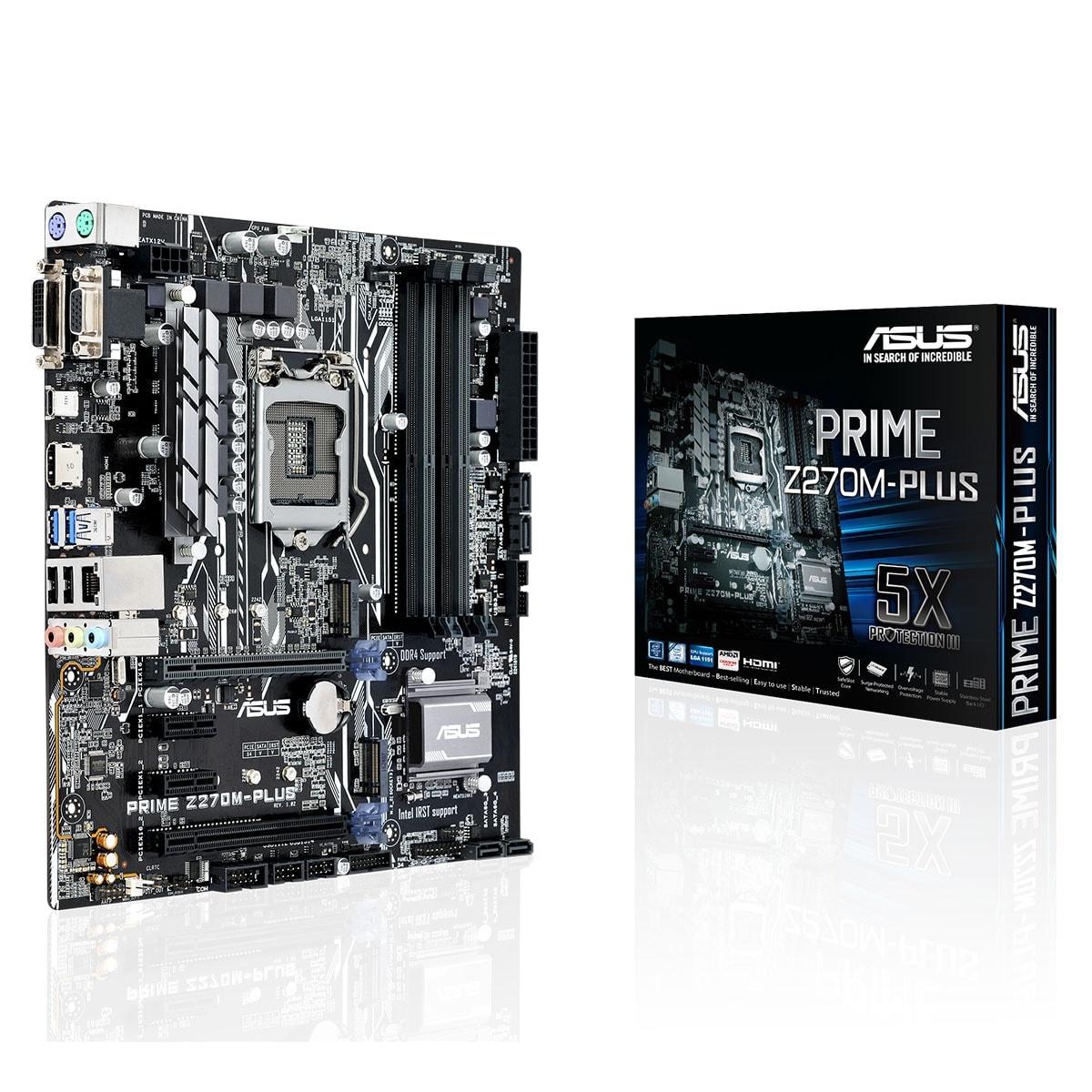 Asus PRIME Z270M-PLUS Micro-ATX DDR4 - Carte mère Asus - 0