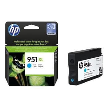 Cartouche Cyan 951XL - CN046AE pour imprimante Jet d'encre HP - 0