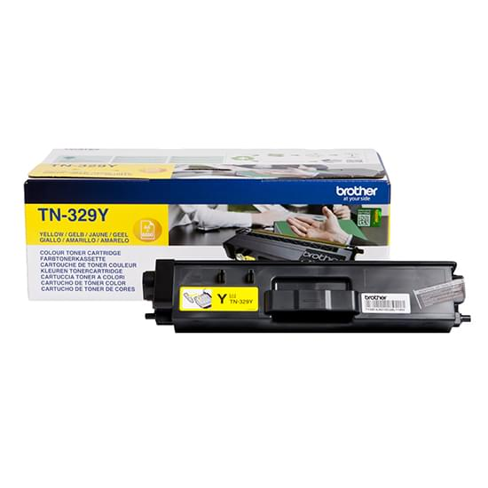 Toner Jaune TN-329Y 6000p. pour imprimante Laser Brother - 0