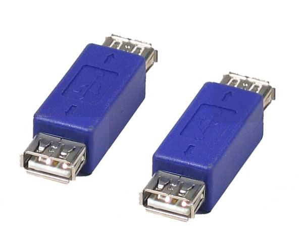 Adaptateur USB A Femelle - USB A Femelle - Connectique PC - 0